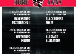 Konstanz Pirates - American Football - Plakat Spielplan 2021