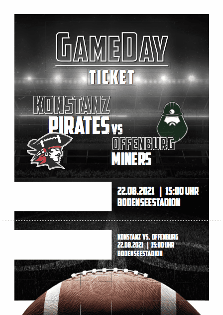 Konstanz Pirates - American Football - GameDay Ticket Offenburg Miners